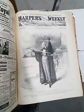 Harpers Weekly 1898 bound ENTIRE YEAR over 1,300 pages engravings, photos Rogers
