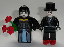 TOWN  Lego Bride & Groom Goth- Black Tux, Pale Face NEW Authentic Lego parts