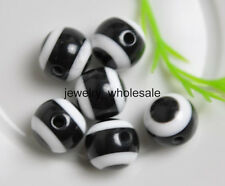 Wholesale 100Pcs Charm Acrylic Evil Eye Round Beads 8mm