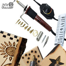 Wood Burning Kit Pen Art Crafts Tool Kit Temp Control Hot Knife Stamping Point