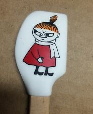 Moomin mini baking spatula, Little My from Finland, silicone and wood, white