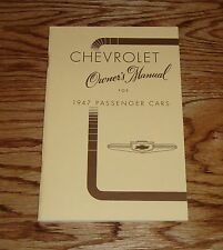 1947 Chevy Passenger Cars Owners Operators Manual 47 Chevrolet
