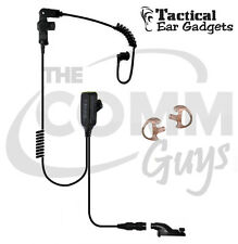 Hawk Lapel Mic for Motorola for APX Radio with Black Tube and Earmolds