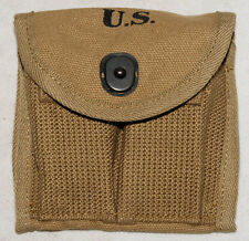 WWII US M1 CARBINE BUTTSTOCK TYPE CANVAS AMMUNITION MAGAZINE POUCH -32363