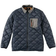 2015 NWT MENS BILLABONG SHELTER INSULATED JACKET $110 L slate blue quilted zip