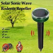 Ultrasonic Solar Power Pest Animal Repeller Repellent Ground Rodent Mouse Rats
