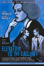 ELEVATOR TO THE GALLOWS Movie POSTER 27x40 B Jeanne Moreau Maurice Ronet Georges