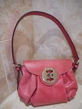 Mulberry Genuine Snakeskin Leather Pink Leigh Handbag Clutch Bag + Serial No.