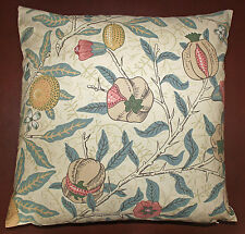 "Cushion Cover in William Morris Fruit 16"" - Sanderson Fabric, Made in England"