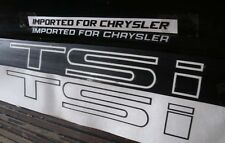Chrysler Conquest TSi Vinyl Decals Stickers Full Set of 5 Matte Black