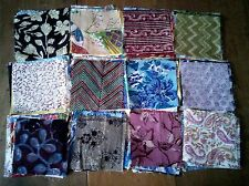 ethnic Indian LIGHT, FINE cotton print fabric squares patchwork 12 pieces 11cm