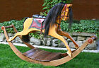 Woodworking plans and patterns for making a Victorian Rocking Horse