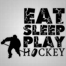 Hockey Wall Quote, Hockey players room decor,Hockey Wall decal Silhouettes