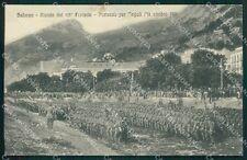 Salerno Militari 63º Fanteria Reggimento Partenza Tripoli cartolina QT7554
