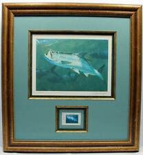 2005 Texas Saltwater Conservation Stamp Print Framed Mint New Tarpon Fish