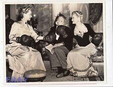 Bette Davis Miriam Hopkins Director Edmund Goulding VINTAGE Photo candid on set