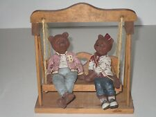 Sarah's Attic 1989 Bailey & Beulah Bears w/Swing *Rare*
