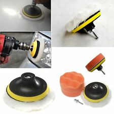 4PCS Gross Polishing Buffing Pad Kit Tool Car Polisher Buffer with Drill Adapter