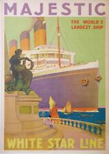 WHITE STAR LINE MAJESTIC THE WORLD'S LARGEST SHIP  BY AYLWARD Wiliam James