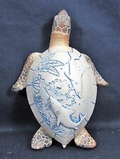 Sea Turtle w/ Embossed Art on the Shell Nautical Sea Life Figurine (D)