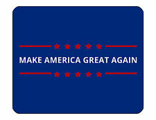 "9""x7"" MOUSE PAD - Donald Trump 4 for President Republican GOP Make America Great"