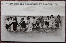 1913 Sea Urchins By Gum Its Champion at Blackpool Vintage Photographic Postcard