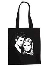 BUFFY & ANGEL CULT TV LADIES T SHIRT DESIGN TOTE BAG