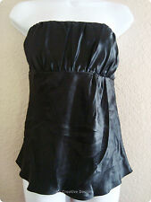 Ann Taylor Loft Sexy Black Club 100% Silk Baby Doll Little Dress Top Size 6 New