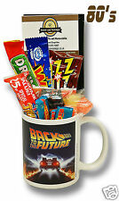 Back to the Future Mug with a Time Travelling selection of 80's retro sweets