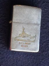WWII USS Abbot DD-629 Destroyer, Zippo Cigarette Lighter