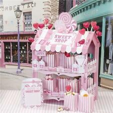 STREET Stalls Pink & White Candy Stripe Retrò Tier 2 Sweet Shop stand ideale per