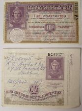 Irish Free State Hospitals Sweepstake Ticket CESAREWITCH Horse Race 1937