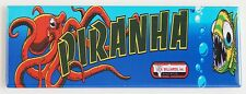 Piranha Marquee FRIDGE MAGNET (1.5 x 4.5 inches) arcade video game header