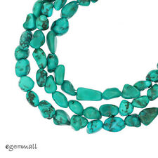 """16"""" Genuine Chinese Turquoise Small Nugget Beads ap. 5mm #82031"""
