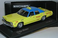 Minichamps 400144795, Dodge Monaco TEXAS CAB TAXI 1974, limited Edition, 1/43