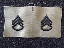US Kragen Rangabzeichen Staff Sergeant Stoff Desert