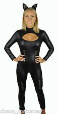 Sexy Cat Woman Super Hero Justice League Avengers Halloween Costume 8 10 12