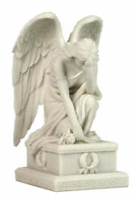 Weeping Angel Mourning Sculpture With Hand On Forehead Sympathy Statue Figurine