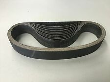 "QTY:10 Silicon Carbide 1-1/8"" X 21"" 220 Grit Wet Dry Sanding Belt USA SHIPPING"