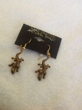 Reptile Animal Lizard Hand Crafted Earrings