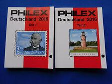 Briefmarken-Katalog  Philex  Deutschland 1.u.2. Teil  zusammen  2016   9,90 Euro