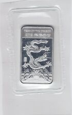 2012 1/2 Troy Ounce Year of the Dragon .999 Fine Silver Bars