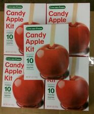 Lot of 5 5oz concord foods candy apple kit makes 10 apples gluten free