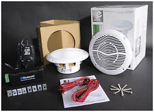 "E-Audio 5.25"" Bluetooth Altavoz de techo Kit con Cable & Amp Para Baño Home Shop"