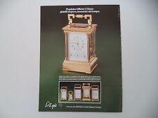 advertising Pubblicità 1979 OROLOGI L'EPEE