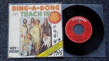 Teach in - Ding-a-dong 7'' Single Eurovision 1975 SUNG IN GERMAN