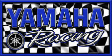 Yamaha Snowmobile Racing Snocross Garage Banner - Racing Checkers