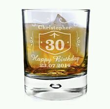 Personalised Jack Daniels Style Whisky Glass Birthday Gift 21st 30th 40th 50th