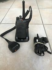 Motorola XPR 6350 UHF W/ Public Safety Speaker Mic Charger Two Way Radio TRBO