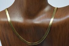 Women's 3.5 mm Silk Flex Herringbone Chain in 14k Solid Yellow Gold 20 in Long